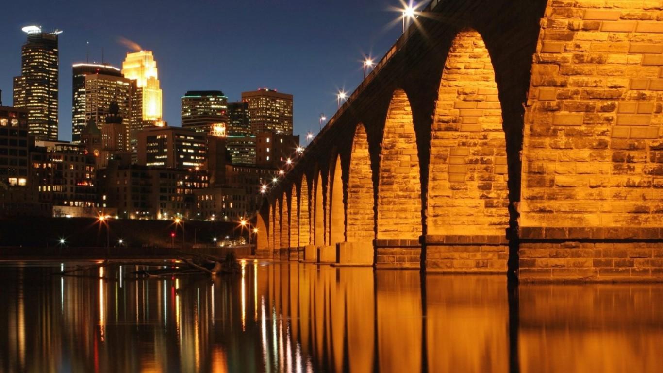 Bridges Minneapolis Saint Paul Minnesota Bridge Wallpaper Pictures Hd 1366x768